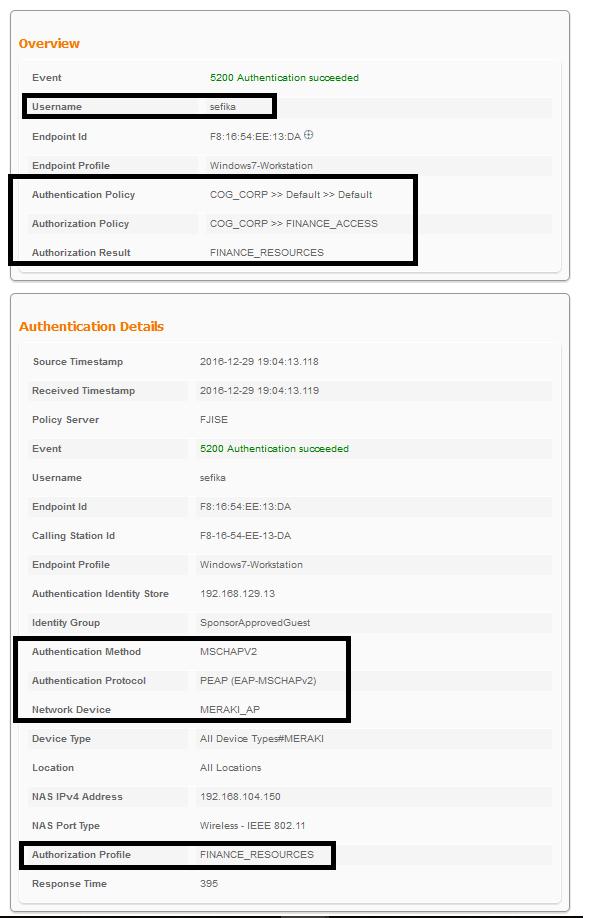 Group Based Authorization for Meraki Wireless with ISE
